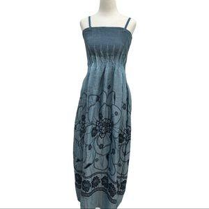 Lapis One Size Full Length Dress